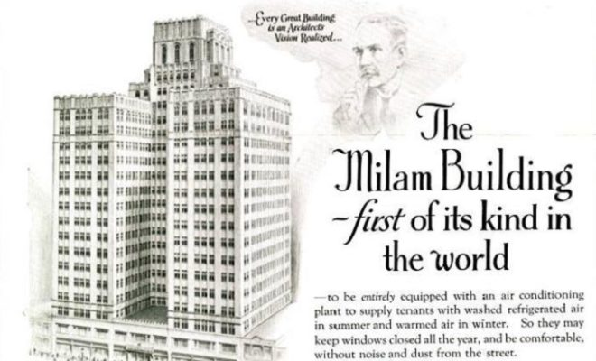 HVAC Fact Milam Building First Air Conditioned